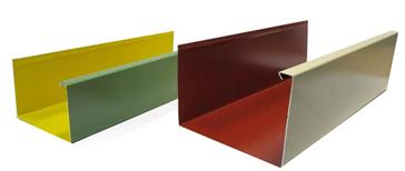 Gouttière aluminium carrée
